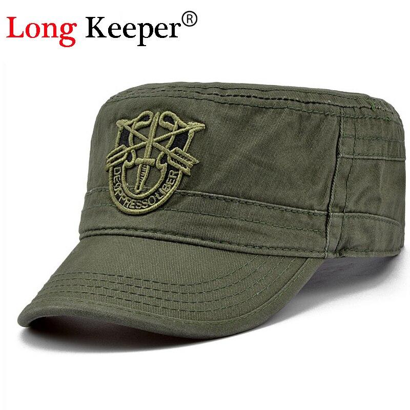 Long Keeper Men Tactical Cap Flat Army s