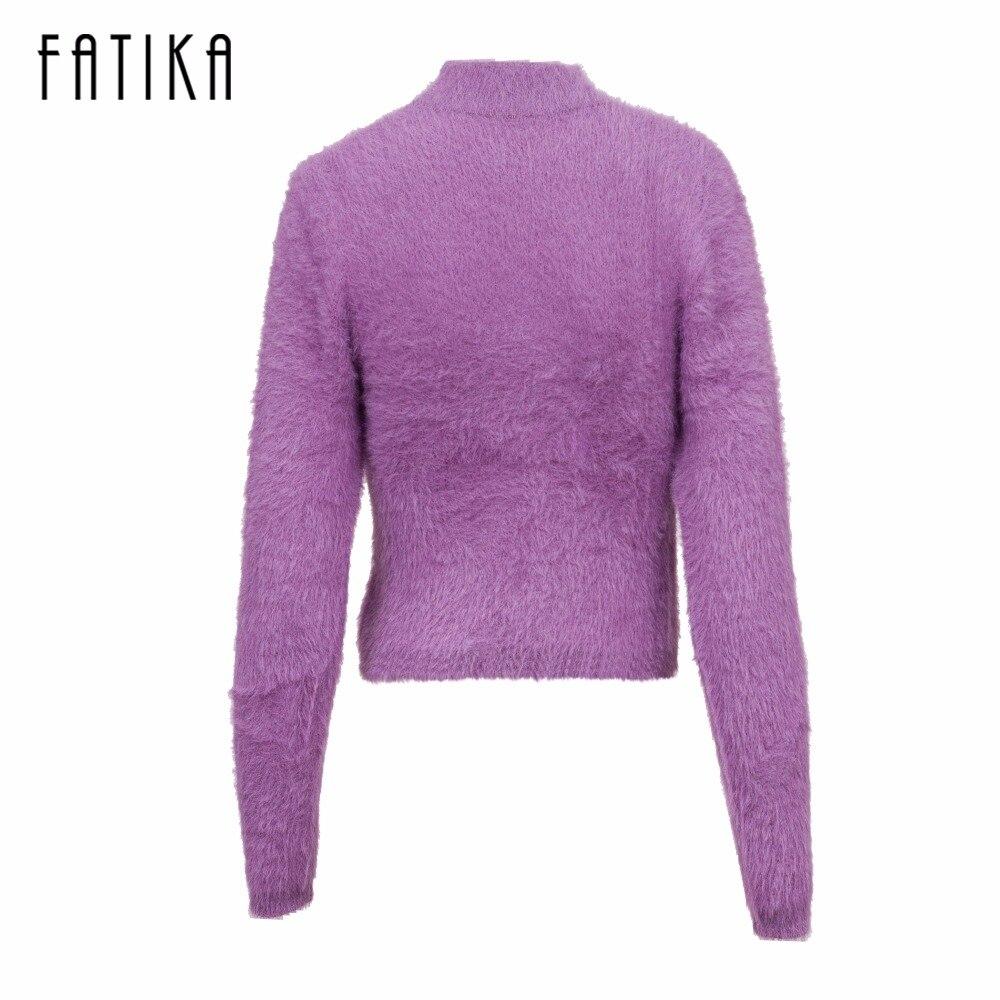 FATIKA Warm Turtleneck Knitted Sweater Women Autumn Winter ...