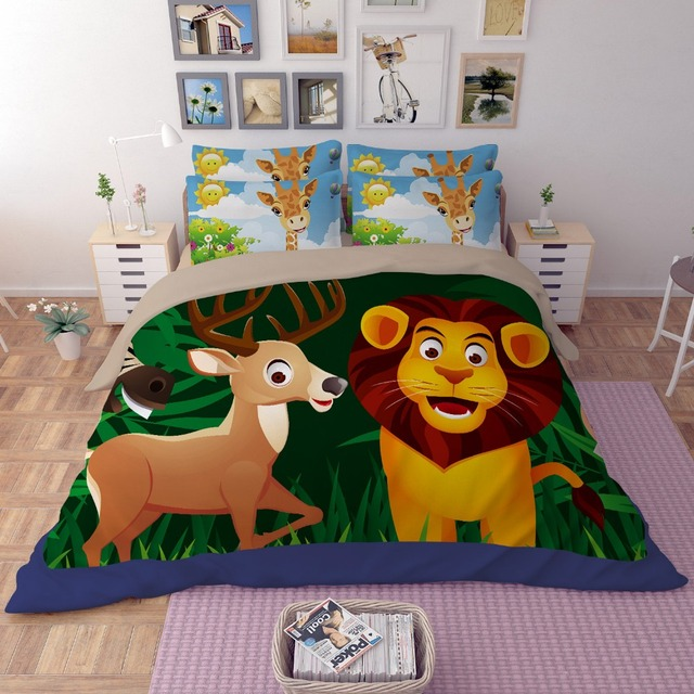 Livraison Gratuite Mignon Animal Lion Cerf Girafe Singe Motif