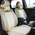 2 asiento delantero Universal Cubierta de Asiento de Coche para volkswagen vw passat b5 b6 polo touran tiguan golf 5 6 jetta 7 etiqueta accesorios
