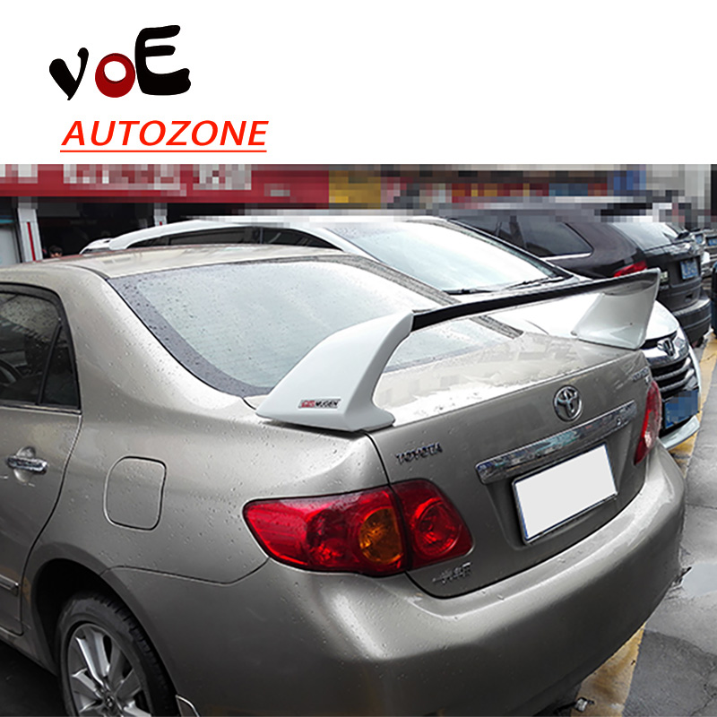 2003-2016 Corolla ABS Plastic Unpainted Sport Style Rear Spoiler for Toyota Corolla