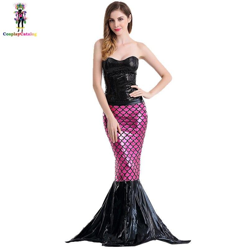 Halloween Sexy Adult Women Mermaid Cos Costumes Seductive Ocean Beauty Mermaid Temptress Costume Sea Goddess Uniforms Dresses