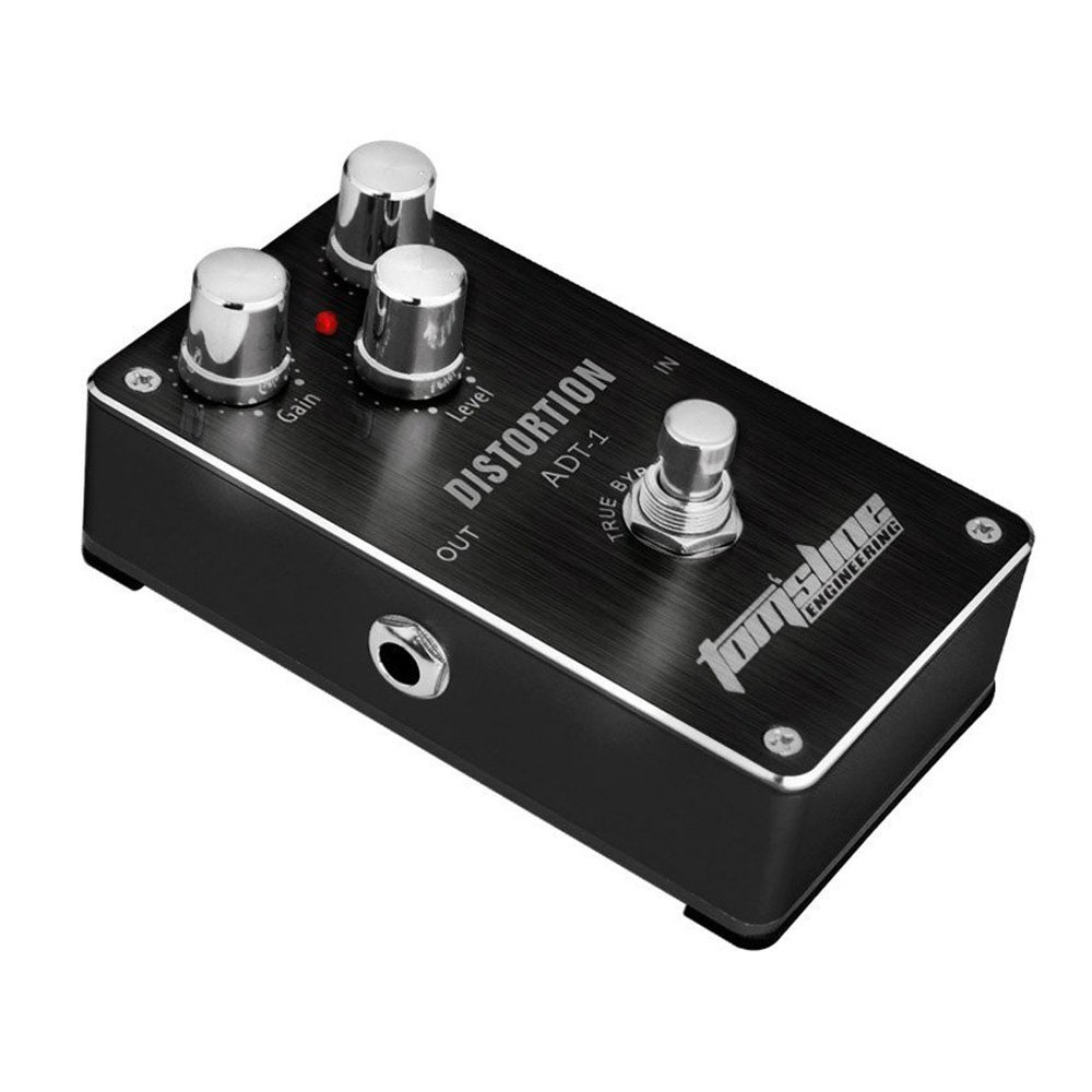 AROMA ADT-1 Blues Distortion Electric Guitar Effect Pedal True Bypass with Aluminum Alloy Housing Black aroma adr 3 dumbler amp simulator guitar effect pedal mini single pedals with true bypass aluminium alloy guitar accessories