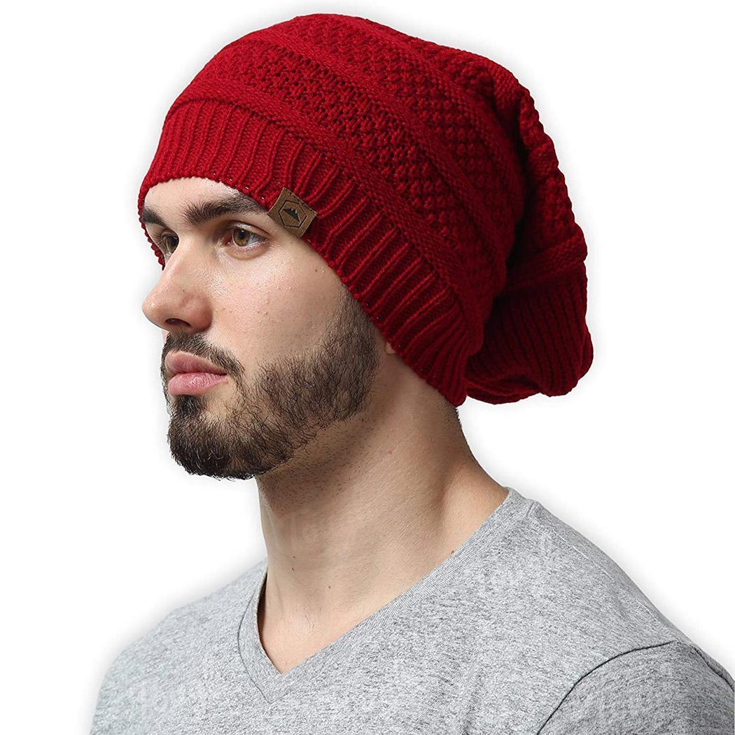 54ea1c597fb Detail Feedback Questions about only Headwear Winter Hats Hand Unisex red  Light White Wine Striped Black gray wash None Soft Stretchy Warm Knitted on  ...