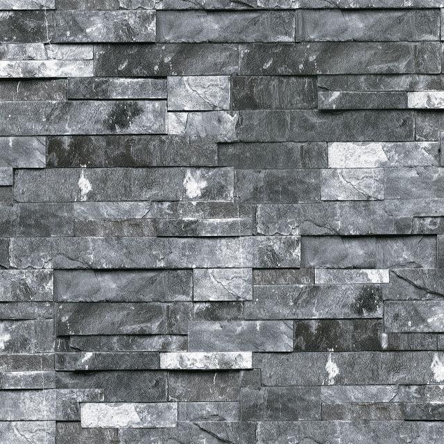 retro grau 3d mauer papier moderne tapete stein hintergrundbild f r wohnzimmer tv. Black Bedroom Furniture Sets. Home Design Ideas