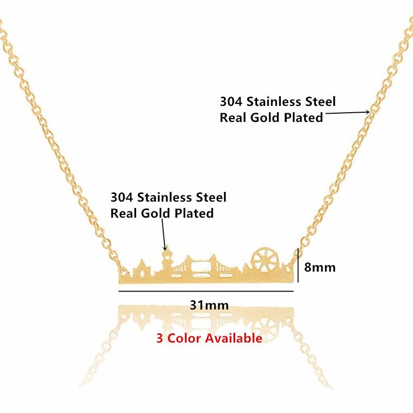 Vintage Λονδίνο Skyline κολιέ κρεμαστό - Κοσμήματα μόδας - Φωτογραφία 2