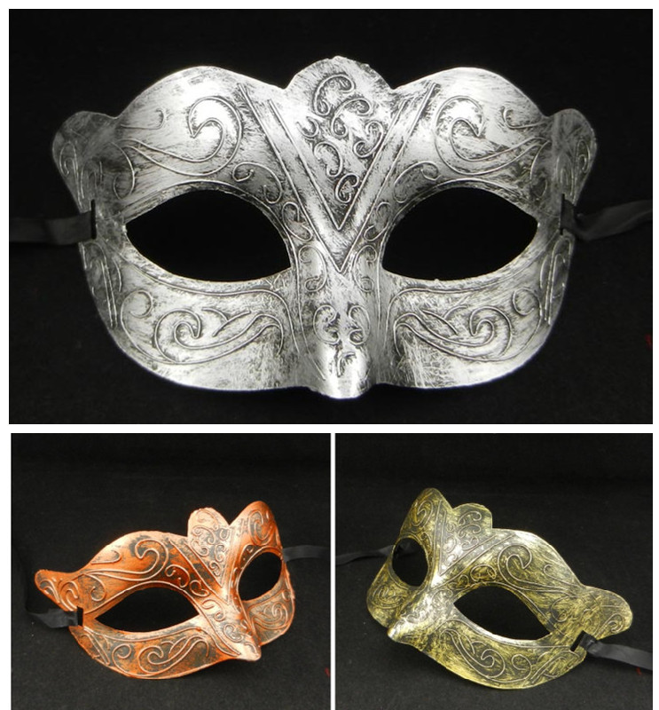 Ancient Greek mask Antique Roman Warriors Man Costume Cosplay Venetian Masquerade Party Masks Christmas gift - Caly Tao's store