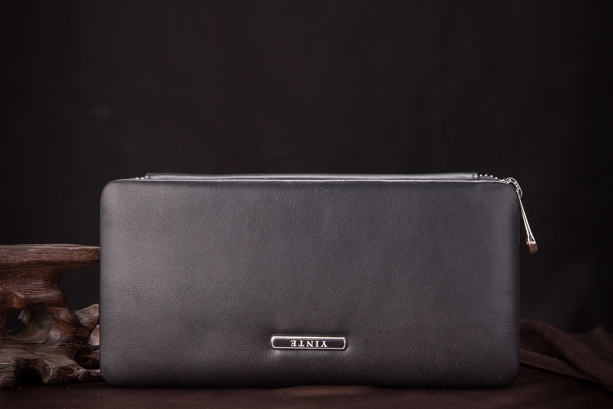 Tasche blue Wallet Echtem Wallet Mens brown Black Aus Reißverschluss Brieftasche Handtasche Telefon Vintage Marke Clutch Solide Yinte T1605 Leder Wallet Ein n7qRfUwxT