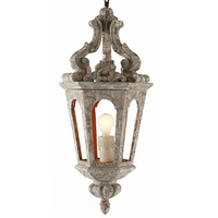 Aidan Gray Eda Pendant INDOOR OUTDOOR Vintage Wood Made Country Retro Lamp
