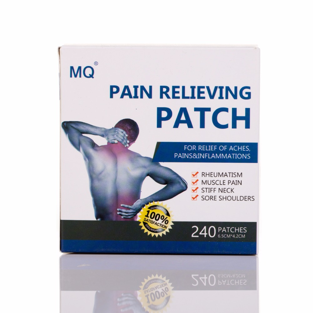 MQ 240 Pcs / Box Herbal Menthol Self Adhesive Medical Plaster Pain Relief Patch For Sore Muscles Same As Salonpas Pain Patch