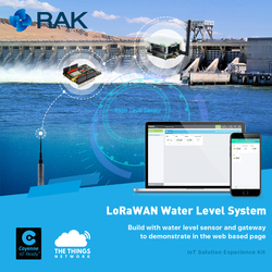 LoRaWAN Water Level System Sensor IoT LoRa Gateway Experience Kit WisNode LoRa to Demonstrate in Web Based Page Q135