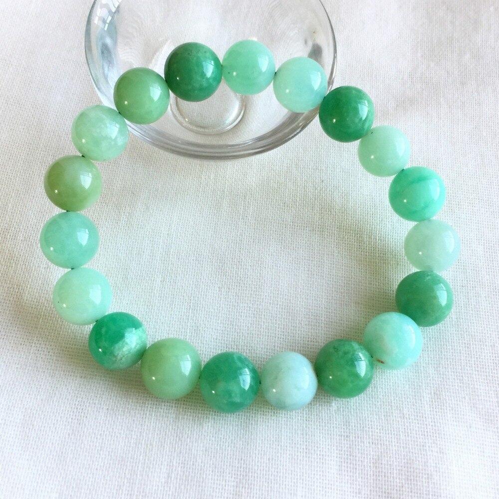 Véritable naturel bleu herbe vert australie Jade Chrysoprase Stretch Bracelet perles rondes 10mm 05222