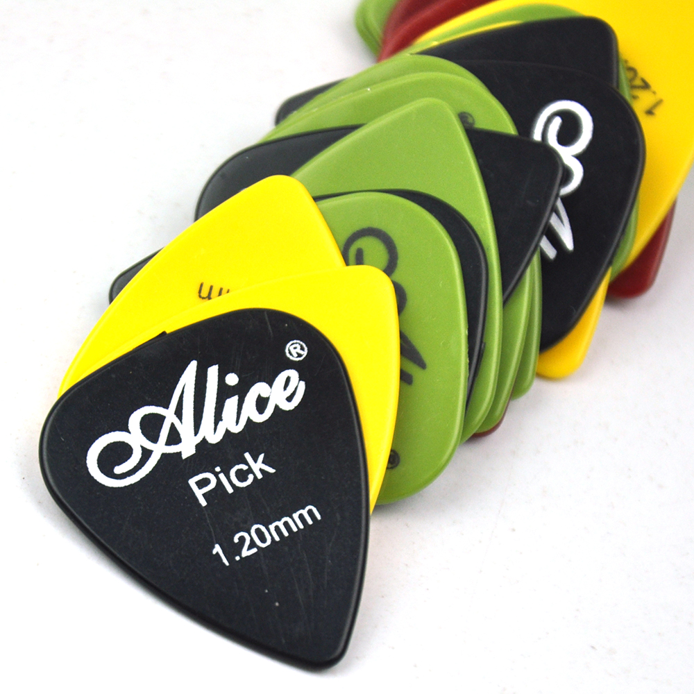 Купить с кэшбэком Lots of 100pcs Alice AP-P Smooth ABS Guitar Picks Assorted Colors 6 thicknesses