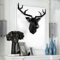 Nordic deer head wall hanging decoration living room bar wall animal wall decoration three dimensional elk pendant LM6011645py