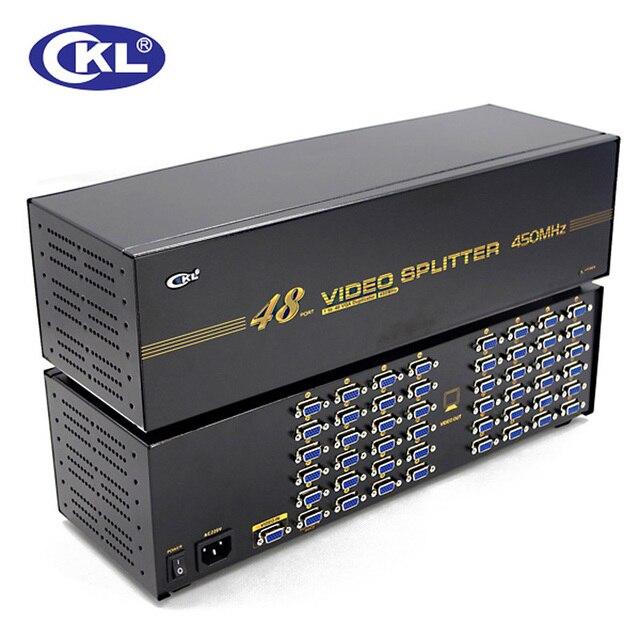CKL-948 Alta qualidade 48 port splitter VGA 1 a 48 splitter VGA para projetor, display, suporte para TV 450 Mhz 2048*1536