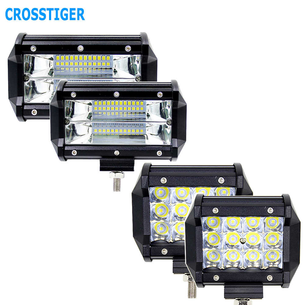5 inch 36W 72W Led Work Light Bike Motorcycle Car Fog Spotlight 4x4 ATV UTV SUV 4WD Truck Offroad Vehicle Lamp Outdoor Lights