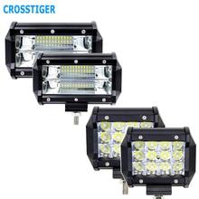 5 inch 36W 72W 6000K Led Arbeit Licht 12V Led Auto Licht Bar Off Road Lampe für Traktor Lkw SUV Fahrzeug Boot Scheinwerfer Für Auto