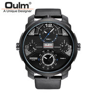 3ATM Waterproof New Men Watch HP3749 Fashion Casual Style Alloy Case Quartz Wristwatches Oulm Brand Factory