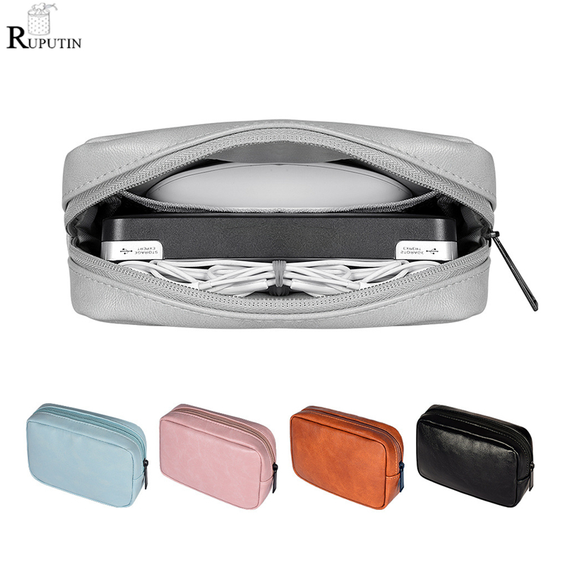 Data Line Storage Package Container Headphone Protective Storage Box Travel Storage Bag For Earphone Data Cable USB Charger Case