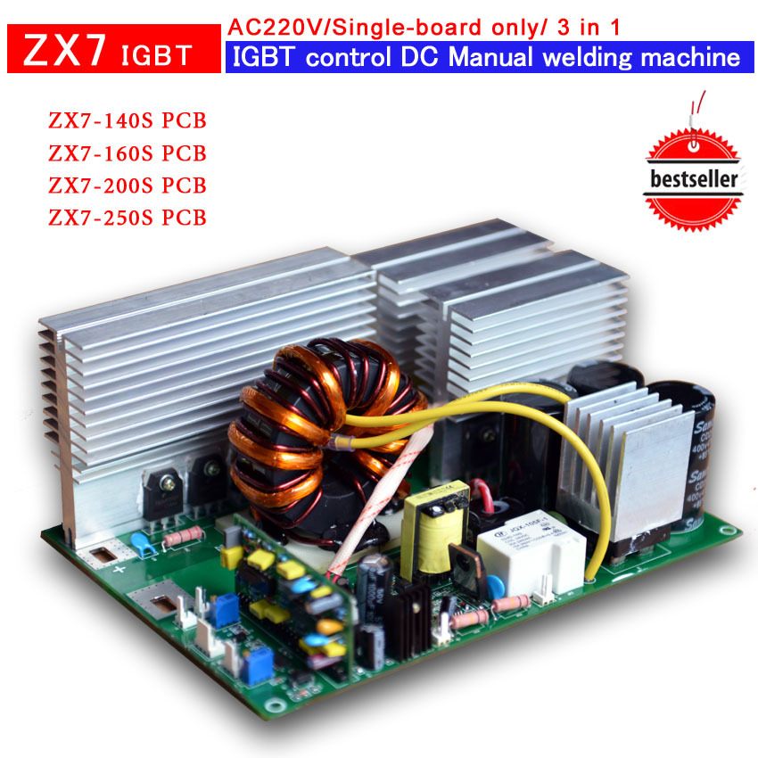 ZX7-200A (220V) PCB IGBT-controlled inverter welder( single board only) - XIAMEN HONYE TRADE COMPANY store