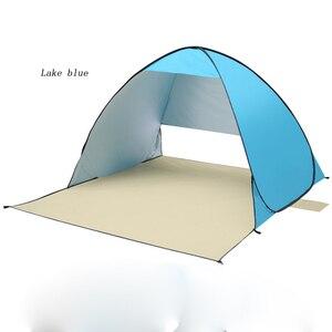 Image 2 - אוטומטי קמפינג אוהל ספינה מru חוף אוהל 2 אנשים אוהל מיידי צצים פתוח אנטי UV סוכך אוהלי חיצוני sunshelter