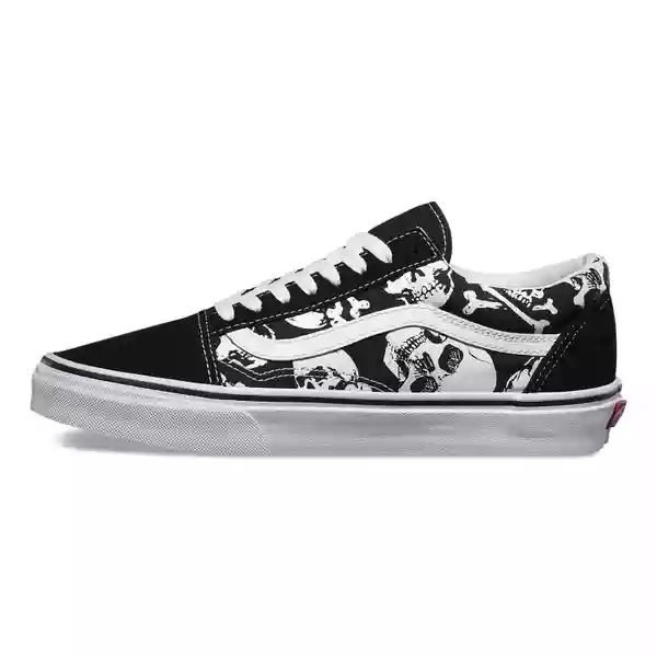 51645117844c Original Vans Old Skool Skateboarding Shoes Unisex Black Pattern ...