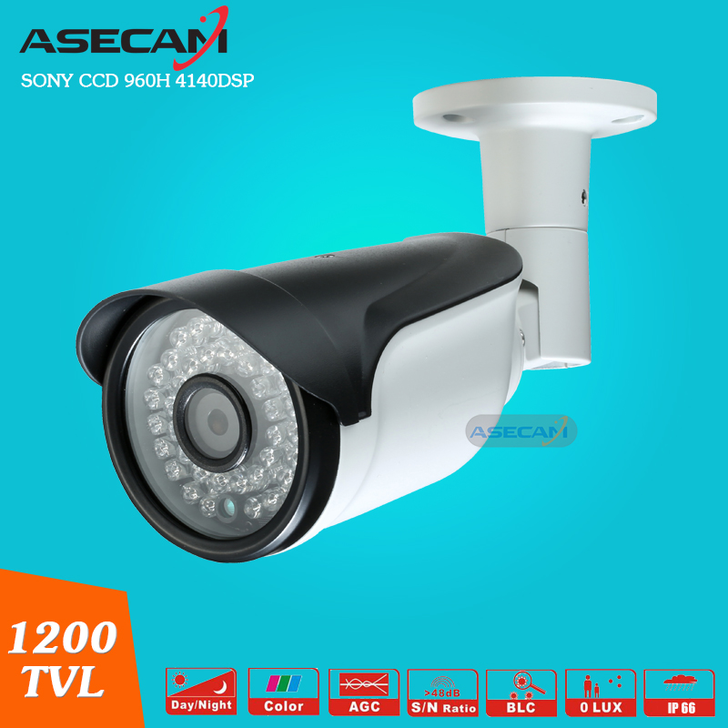 Asecam Sony CCD 960H Effio 1200TVL CCTV metal Bullet Analog Surveillance Waterproof infrared night vision Security Camera