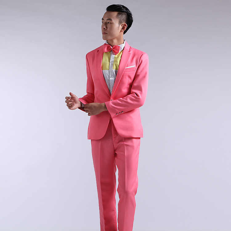 Untuk Pria Baru 2020 Lengan Panjang Jas Pria Gaun Diwadahi Teater Tuksedo untuk Pria Pernikahan Prom Merah Kuning biru dan Hijau M L XL