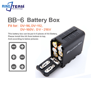 Image 4 - 3Pcs Power As NP F970 NP F970 Battery Case FALCON EYES BB 6 BB6 Box for 6 AA Battery fit LED Video Light Lamp, Monitor Panels...