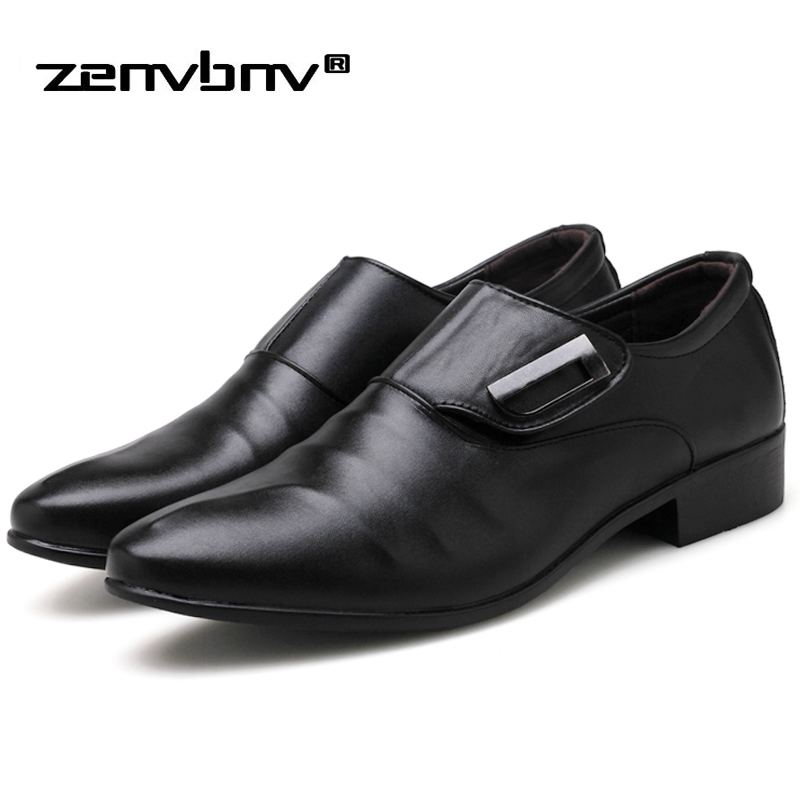 Plus size 38-48 New Men's Fashion British Style Pointed Toe Business Leather Formal Dress Shoes Summer Oxfords Men Casual shoes new brand designer formal men dress shoes lace up business party oxfords shoes for men pointed toe brogues men s flats plus size