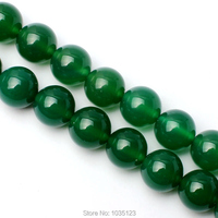 Free Shipping 14mm Smooth Natural Green Color Agate Round Shape Gems Loose Beads Strand 15 DIY