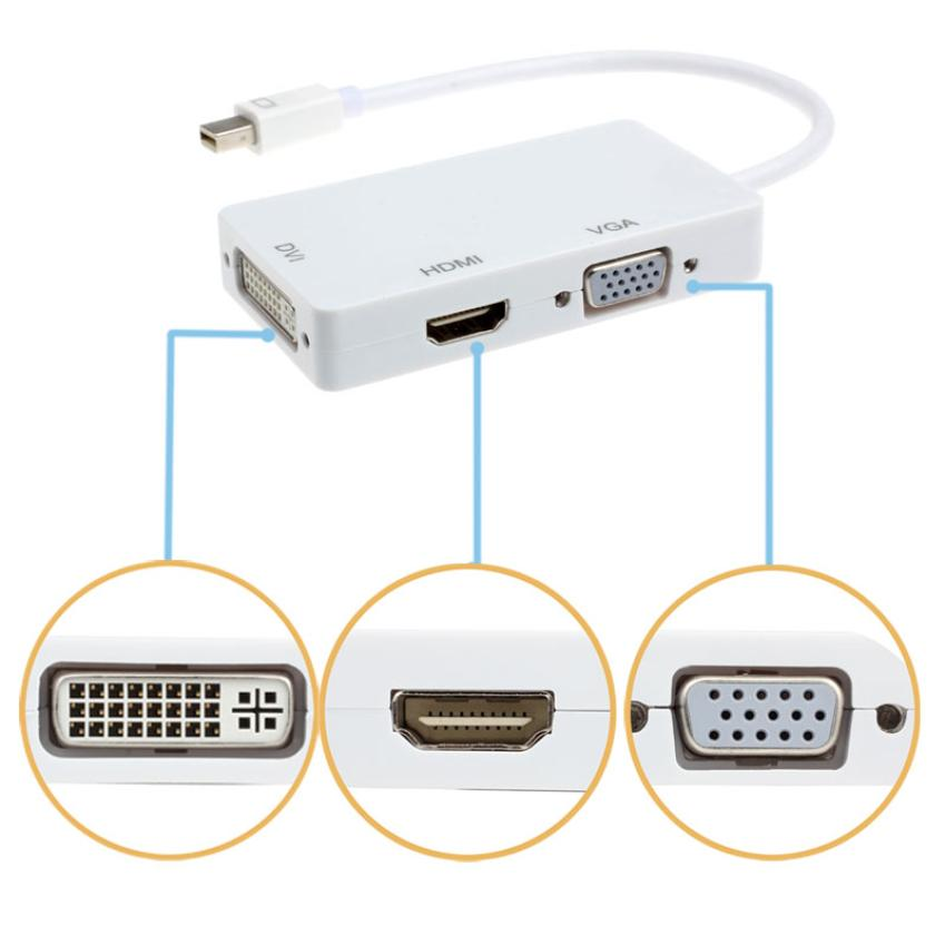 Best Price 1 piece Mini Dual DisplayPort Male to DVI VGA HDMI Female Type A Adapter 3 in1 for MacBook iMac mymei best price new portable 3 5mm pillow speaker for mp3 mp4 cd ipod phone white
