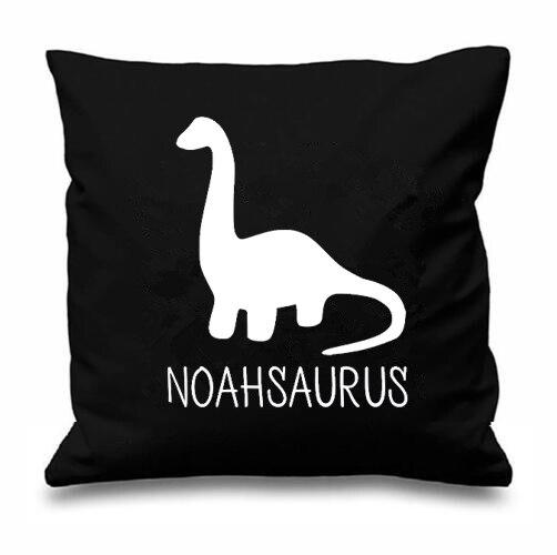 Personalised Pillowcase Dinosaur Cushion Cover Custom Kids Children Gift Decor