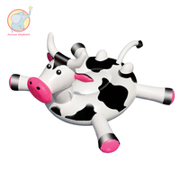 170cm Inflatable Black white cow bossy Cattle pool float swimming circle Air Mattress water toys for child adult beach party