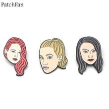 Patchfan Riverdale heroine Zinc tie Pins backpack clothes brooches for men women hat decoration badges medal Fashion A0993(China)