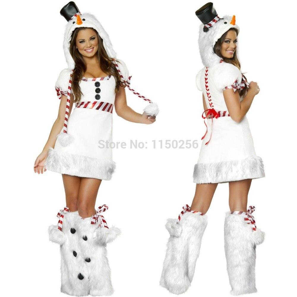 New Sexy Girls Kawaii Arctic Little Penguin Cosplay Fancy Dress Santa Costume Set Woman Merry Christmas Costumes