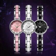 SINOBI Marca de Fábrica Superior de Lujo Del Rhinestone Mujeres del Reloj de Pulsera Relojes Ladies Watch Horas Reloj de Cuarzo relogio feminino montre femme