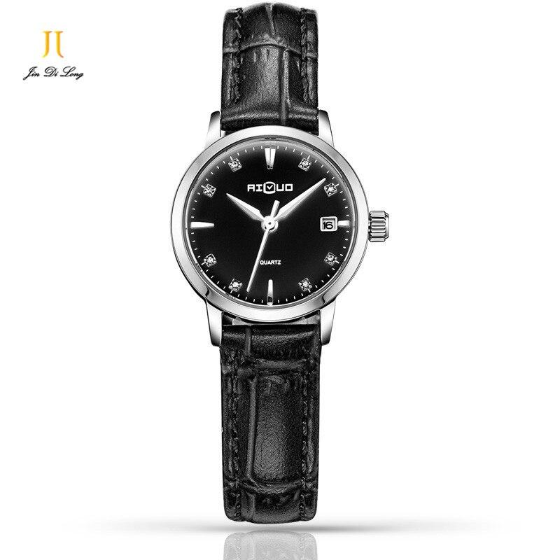 ФОТО Ailuo Luxury Simple Fashion Ultra-slim Ladies Casual Elegant Watch Women Quartz Diamond Wristwatch Leather Strap Waterproof 50M
