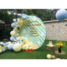 Macaron Balloons 1st Birthday Party Decorations Kids Balloon Arch Set Blue Yellow Jumbo DIY Wedding