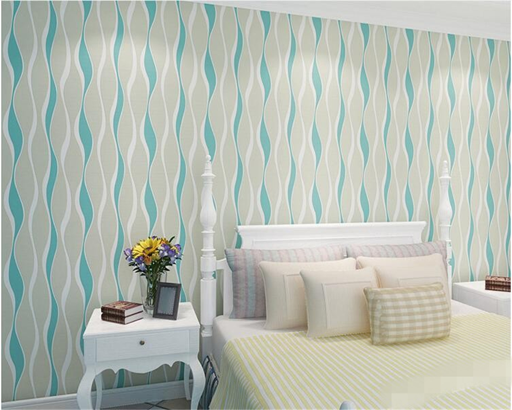 beibehang papel de parede Modern simple three-dimensional wave striped non woven living room bedroom TV background wallpaper