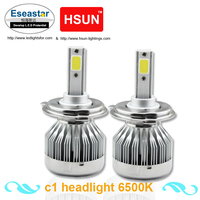 Eseastar 2pcs 6000LM LED Headlight Base Have H1 H3 H7 H8 H11 9005 9006 H4 H13