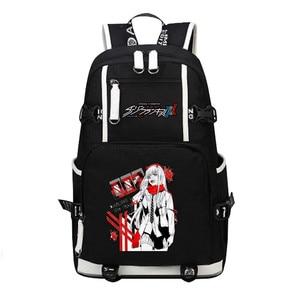 Image 5 - DitF mochila de viaje de DARLING in the FRANXX para mujer, bolso escolar de lona para adolescentes y niñas, ICHIGO MIKU ZERO TWO Cos