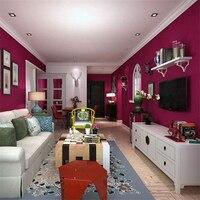 Beibehang Cao cấp phong cách Địa Trung Hải hoa hồng đỏ hình nền tinh khiết màu đồng bằng phòng khách wallpaper Papel de tường parede giấy