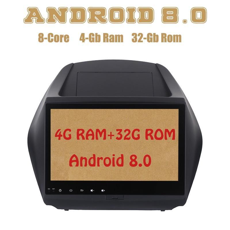 Android 8.0 car radio gps for hyundai IX35 Tucson 2009-2015 with Octa core PX5 4G RAM 32G ROM wifi 4g usb 10 1 tda7851 android 7 1 for hyundai ix35 tucson 2015 2016 2017 2gb ram car dvd player gps map rds radio wifi 4g bluetooth 4 0