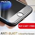 Comprar 2 get 1 livre rock premium de vidro temperado para iphone 7/7 além disso protetor de tela 0.3mm 2.5d 9 h película protetora + pano de limpeza Kit
