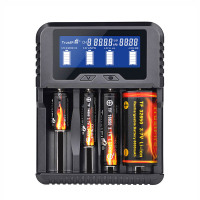 intelligent Fast Charge QC 3.0 Trustfire Charger STN LCD Display 0V Activation Power 18650 32650 Charger (No incl Battery)