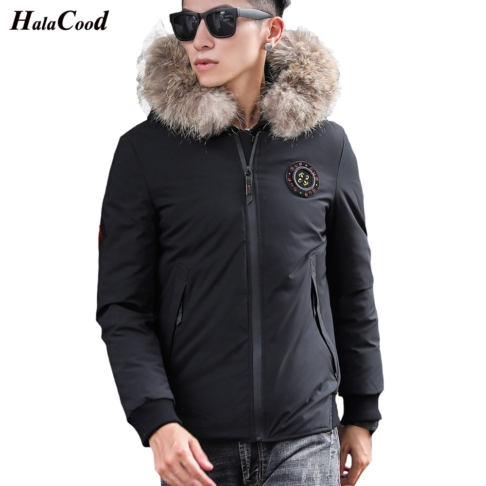 HALACOOD Fashion Winter Big Hooded Duck   Down   Jackets Men Warm High Quality   Down     Coats   Male Casual Winter Outerwer   Down   Parkas