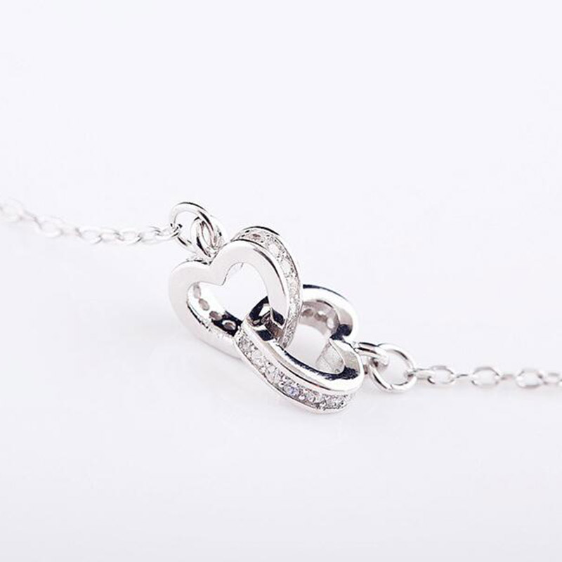 925 Sterling Silver Pendants Necklaces Beautiful Lovely Double ...
