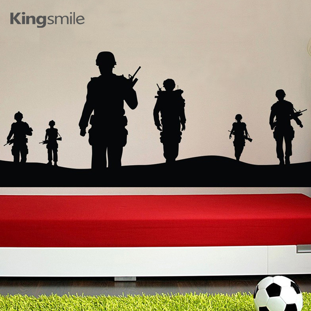 Aliexpress.com : Buy Creatively Soldier Army Men Vinyl 3d Wall ...