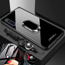 Case for Xiaomi Mi 9/ 9 Tempered Glass Mi9/ Mi9 magnet car ring holder Cover